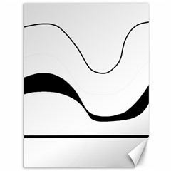 Waves   Black And White Canvas 36  X 48   by Valentinaart