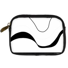 Waves   Black And White Digital Camera Cases by Valentinaart