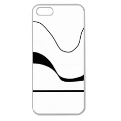 Waves   Black And White Apple Seamless Iphone 5 Case (clear) by Valentinaart