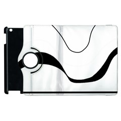 Waves   Black And White Apple Ipad 2 Flip 360 Case