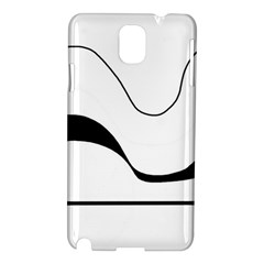 Waves   Black And White Samsung Galaxy Note 3 N9005 Hardshell Case by Valentinaart