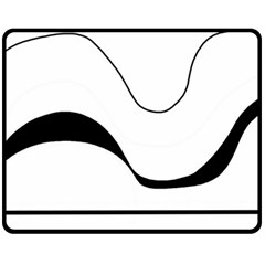 Waves   Black And White Double Sided Fleece Blanket (medium)