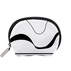 Waves   Black And White Accessory Pouches (small)