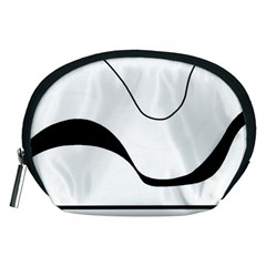 Waves   Black And White Accessory Pouches (medium)
