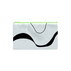 Waves   Black And White Cosmetic Bag (xs)