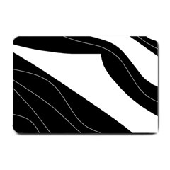 White And Black Decorative Design Small Doormat  by Valentinaart