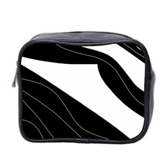White And Black Decorative Design Mini Toiletries Bag 2 Side by Valentinaart