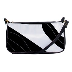 White And Black Decorative Design Shoulder Clutch Bags by Valentinaart