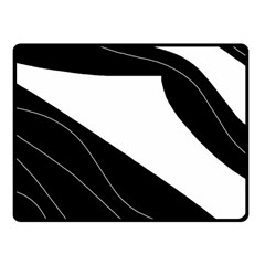 White And Black Decorative Design Fleece Blanket (small) by Valentinaart
