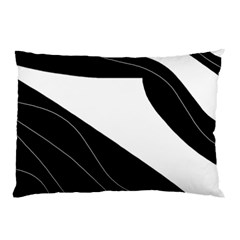 White And Black Decorative Design Pillow Case (two Sides)