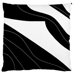 White And Black Decorative Design Large Cushion Case (one Side) by Valentinaart