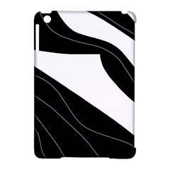 White And Black Decorative Design Apple Ipad Mini Hardshell Case (compatible With Smart Cover) by Valentinaart