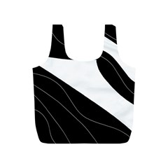 White And Black Decorative Design Full Print Recycle Bags (s)  by Valentinaart