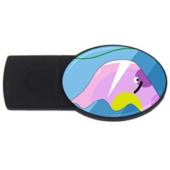 Under The Sea Usb Flash Drive Oval (4 Gb)  by Valentinaart