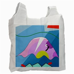 Under The Sea Recycle Bag (one Side)