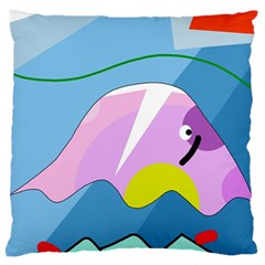Under The Sea Large Flano Cushion Case (two Sides)