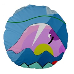 Under The Sea Large 18  Premium Flano Round Cushions