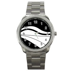 White And Black Harmony Sport Metal Watch by Valentinaart