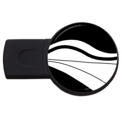 White And Black Harmony Usb Flash Drive Round (4 Gb)  by Valentinaart