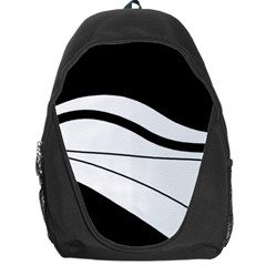 White And Black Harmony Backpack Bag by Valentinaart