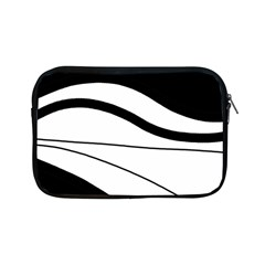 White And Black Harmony Apple Ipad Mini Zipper Cases by Valentinaart