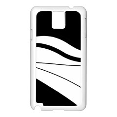 White And Black Harmony Samsung Galaxy Note 3 N9005 Case (white) by Valentinaart