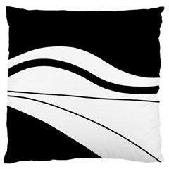 White And Black Harmony Standard Flano Cushion Case (one Side) by Valentinaart