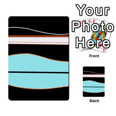 Cyan, Black And White Waves Multi Purpose Cards (rectangle)
