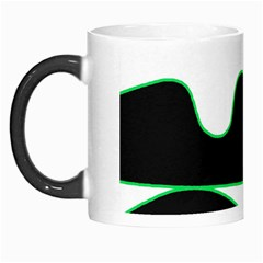 Green, White And Black Morph Mugs by Valentinaart