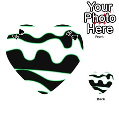 Green, White And Black Playing Cards 54 (heart)