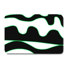Green, White And Black Plate Mats by Valentinaart