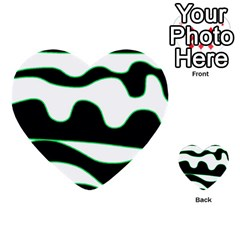 Green, White And Black Multi Purpose Cards (heart)