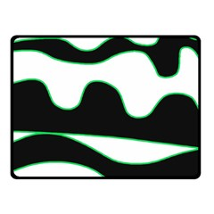 Green, White And Black Fleece Blanket (small) by Valentinaart
