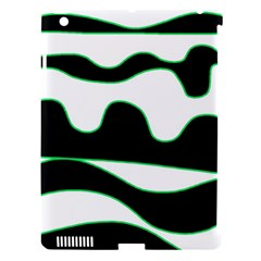 Green, White And Black Apple Ipad 3/4 Hardshell Case (compatible With Smart Cover) by Valentinaart