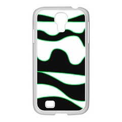 Green, White And Black Samsung Galaxy S4 I9500/ I9505 Case (white) by Valentinaart