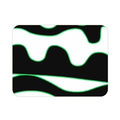 Green, White And Black Double Sided Flano Blanket (mini)  by Valentinaart