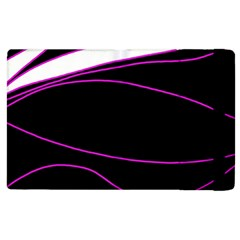 Purple, White And Black Lines Apple Ipad 3/4 Flip Case by Valentinaart