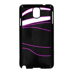 Purple, White And Black Lines Samsung Galaxy Note 3 Neo Hardshell Case (black) by Valentinaart