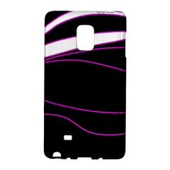 Purple, White And Black Lines Galaxy Note Edge by Valentinaart