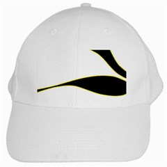 Yellow, Black And White White Cap by Valentinaart