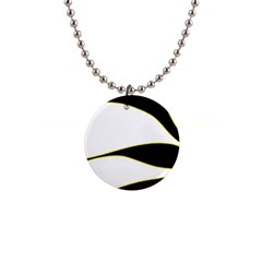 Yellow, Black And White Button Necklaces