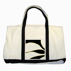 Yellow, Black And White Two Tone Tote Bag by Valentinaart