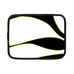 Yellow, Black And White Netbook Case (small)  by Valentinaart