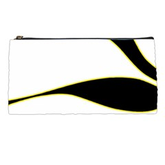 Yellow, Black And White Pencil Cases