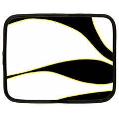 Yellow, Black And White Netbook Case (xxl)  by Valentinaart