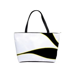 Yellow, Black And White Shoulder Handbags by Valentinaart