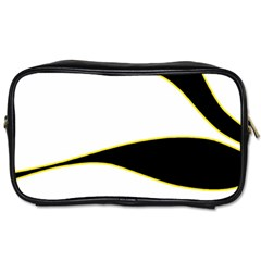 Yellow, Black And White Toiletries Bags 2 Side
