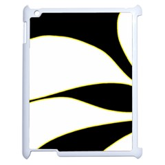 Yellow, Black And White Apple Ipad 2 Case (white) by Valentinaart