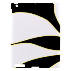 Yellow, Black And White Apple Ipad 3/4 Hardshell Case by Valentinaart