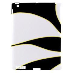 Yellow, Black And White Apple Ipad 3/4 Hardshell Case (compatible With Smart Cover) by Valentinaart